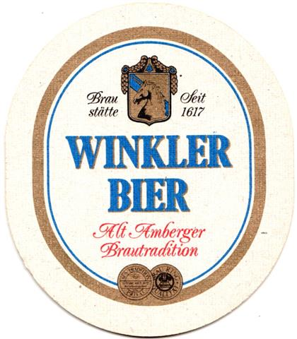 amberg am-by winkler oval 1a (205-winkler bier)