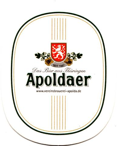 apolda ap-th apoldaer oval l o 1-10a (230-das bier aus)