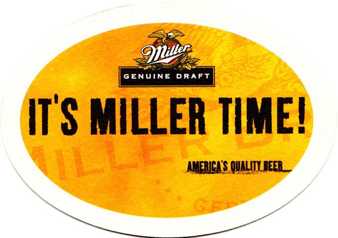 milwaukee wi-usa miller oval 1a (185-it's miller time)