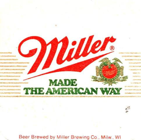 milwaukee wi-usa miller quad 2b (170-u beer brewed by)