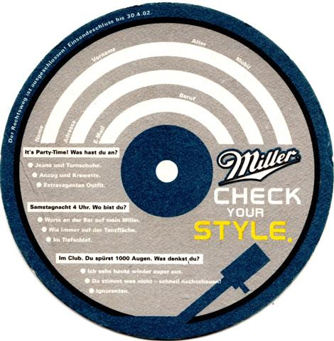milwaukee wi-usa miller rund 2b (240-check your style 2002)