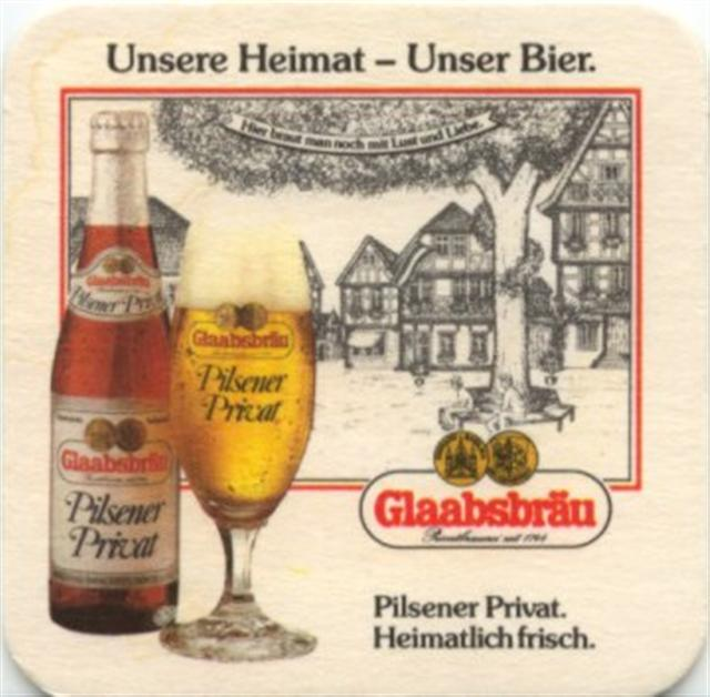 seligenstadt of-he glaab unsere 1-5a (quad180-l flasche & glas)